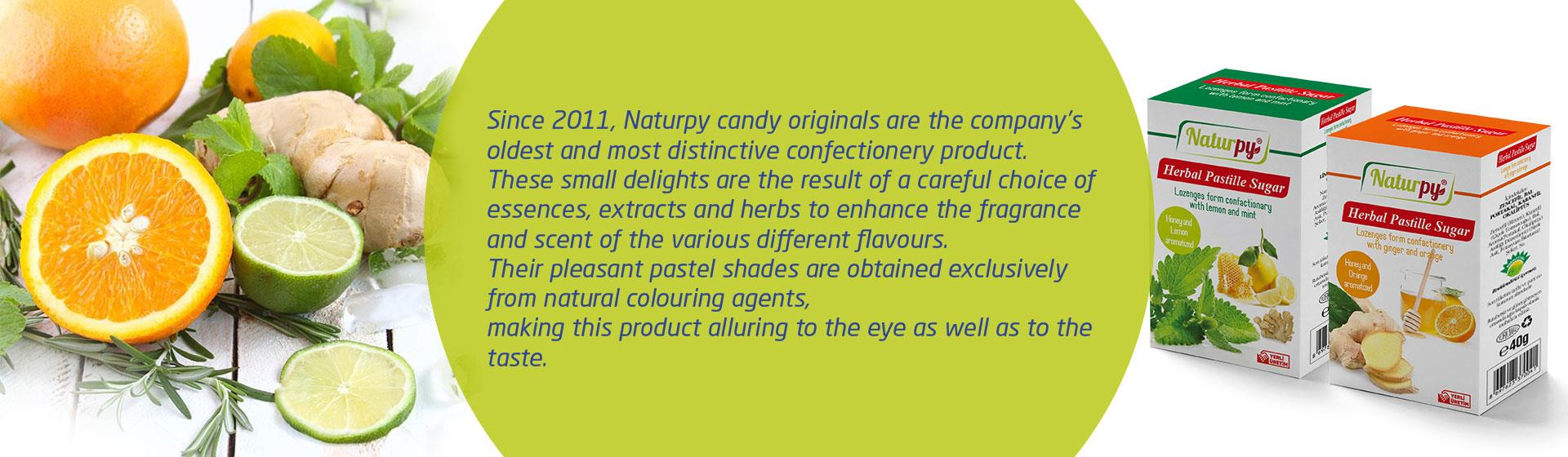 Naturpy herbal honey orange pastil candy
